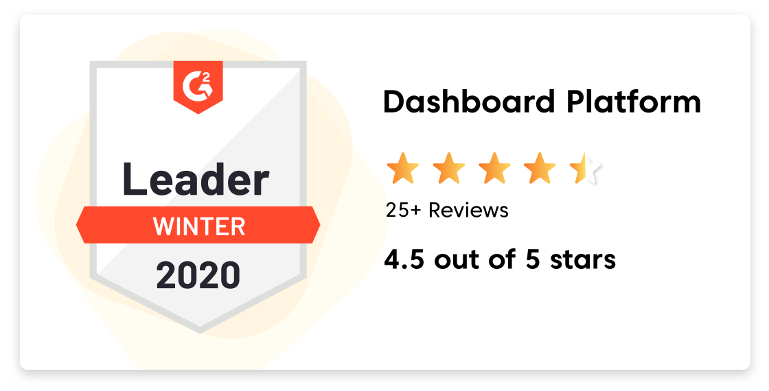 Business Intelligence Dashboard G2 Crowd award