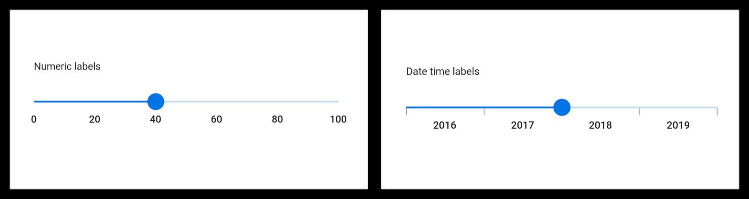 slider labels