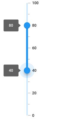vertical range slider