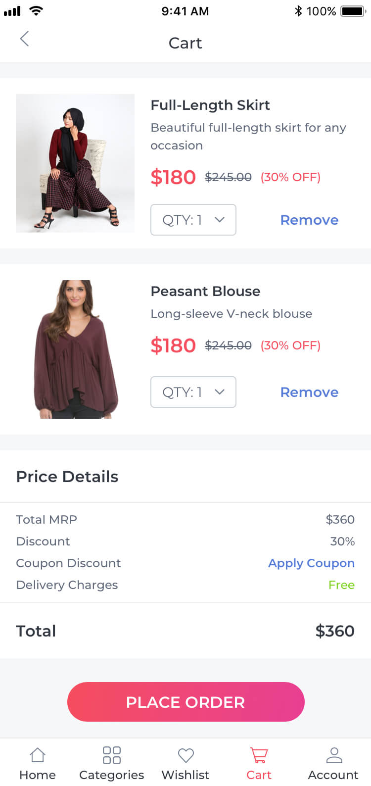 Ecommerce Place Order Template