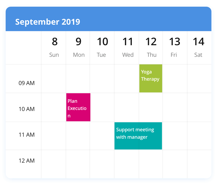 Syncfusion Essential Scheduler