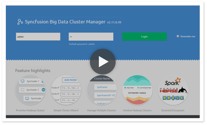 Syncfusion Big Data Platform | Works on Windows, Linux and Azure