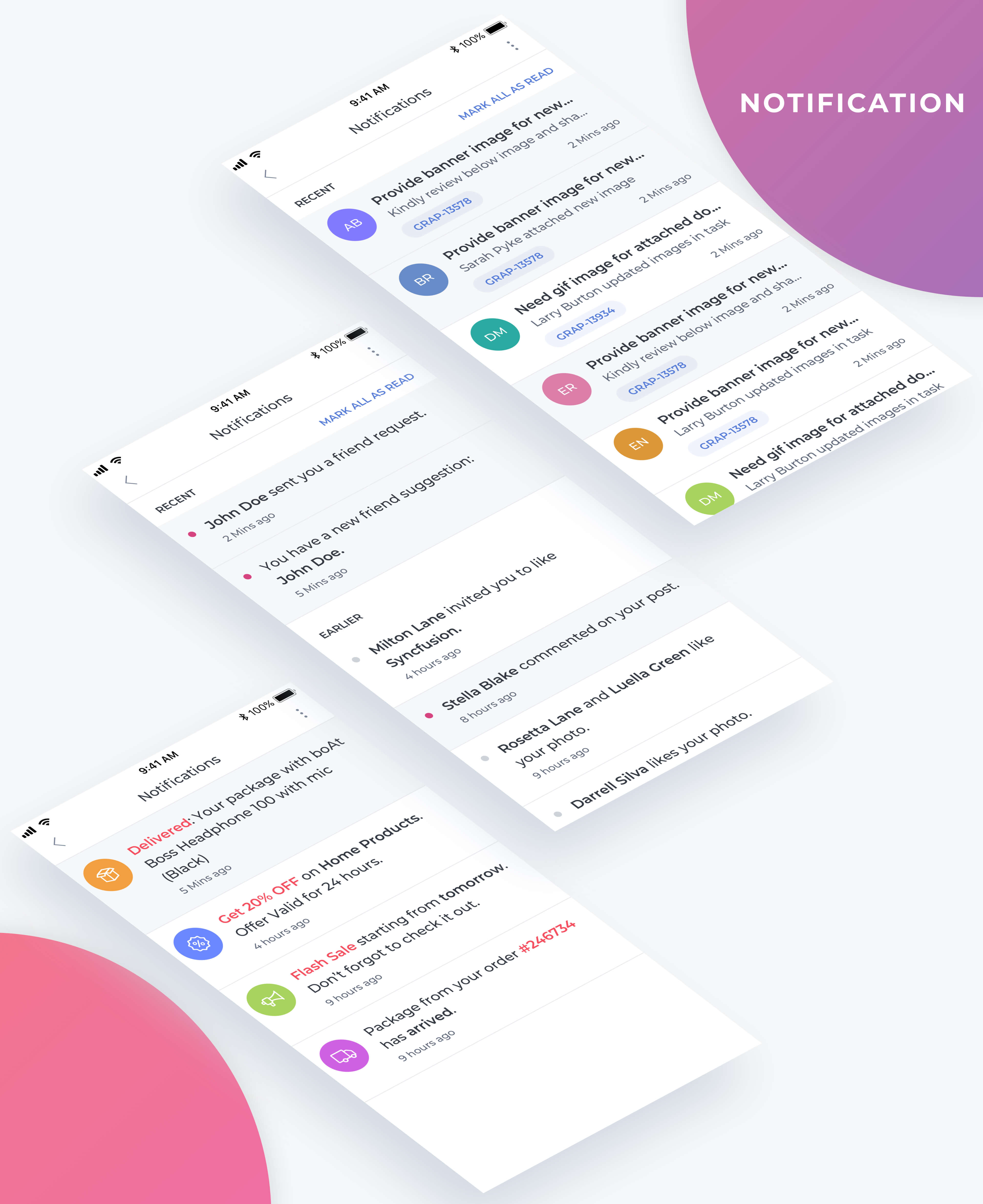 Essential UI Kit - Notification Page