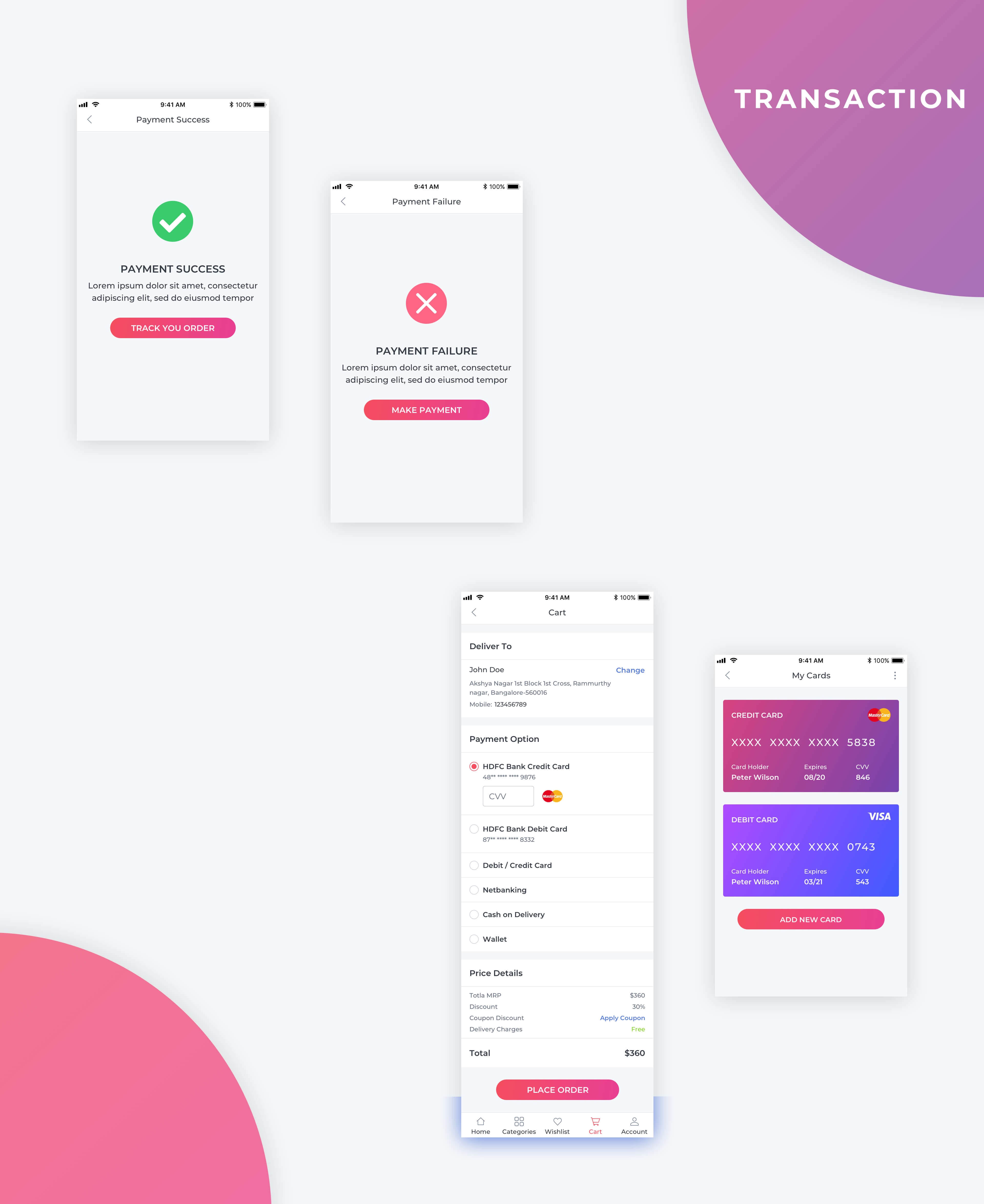Essential UI Kit - Transaction Page