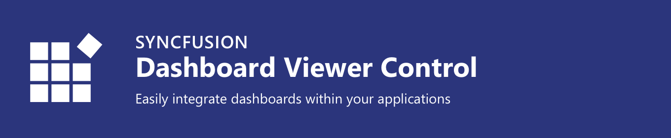 Syncfusion Dashboard Viewer Control Banner