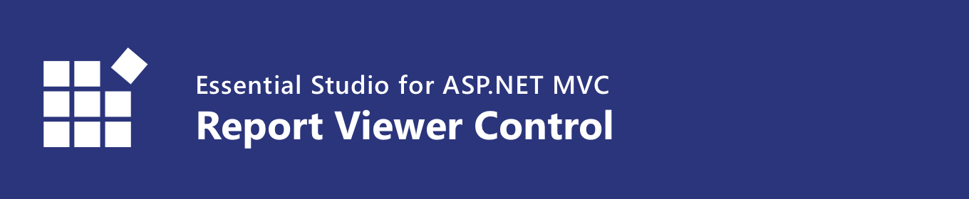 Syncfusion ASP.NET MVC Report Viewer control banner