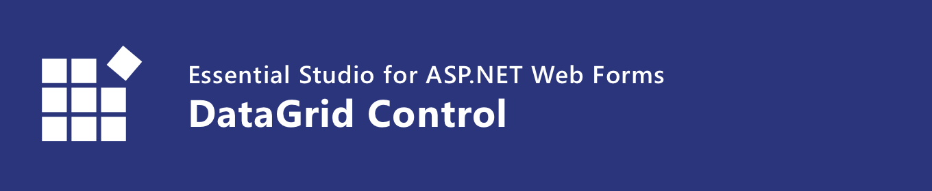 Syncfusion ASP NET Web Forms DataGrid