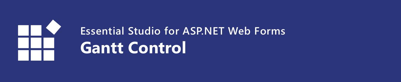 Syncfusion ASP.NET Web Forms Gantt chart
