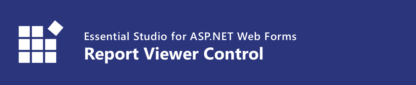 Syncfusion ASP.NET Web Forms Report Viewer control banner