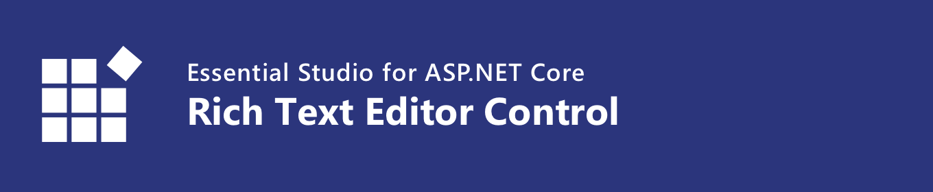 Syncfusion ASP NET Core Rich Text Editor