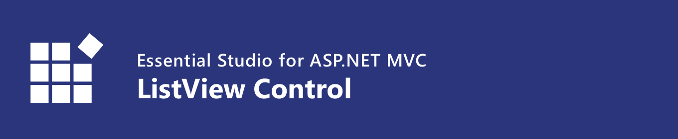Syncfusion ASP.NET MVC ListView Control Banner
