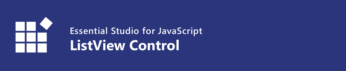 Syncfusion JavaScript ListView Control Banner