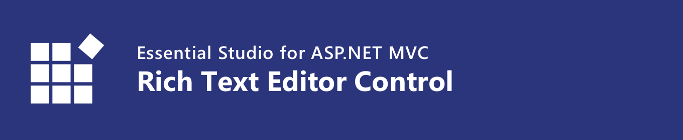 Syncfusion ASP NET MVC Rich Text Editor