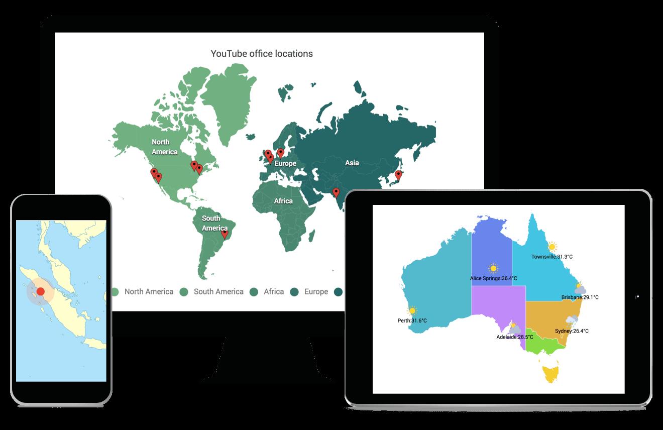 Syncfusion ASP.NET MVC Maps