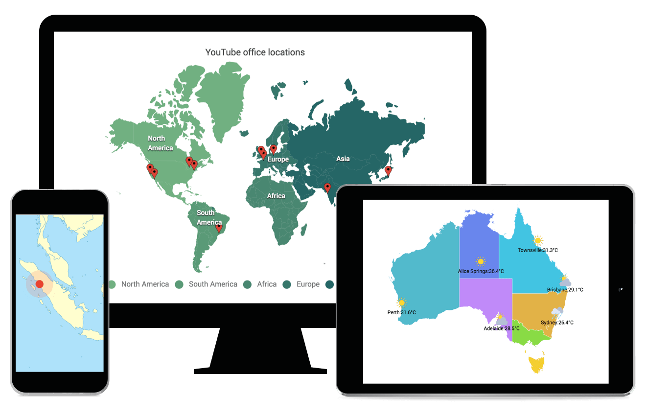 Syncfusion HTML5 JavaScript Maps