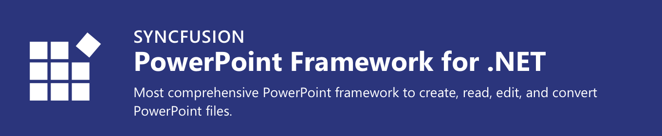 Syncfusion .NET PowerPoint Framework