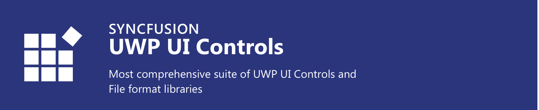 UWP UI Controls - Syncfusion - Visual Studio Marketplace