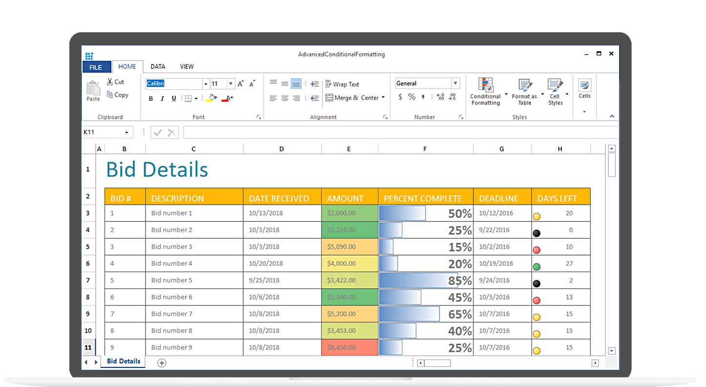 syncfusion WinForms Spreadsheet
