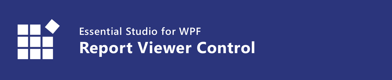 Syncfusion WPF Report Viewer control banner