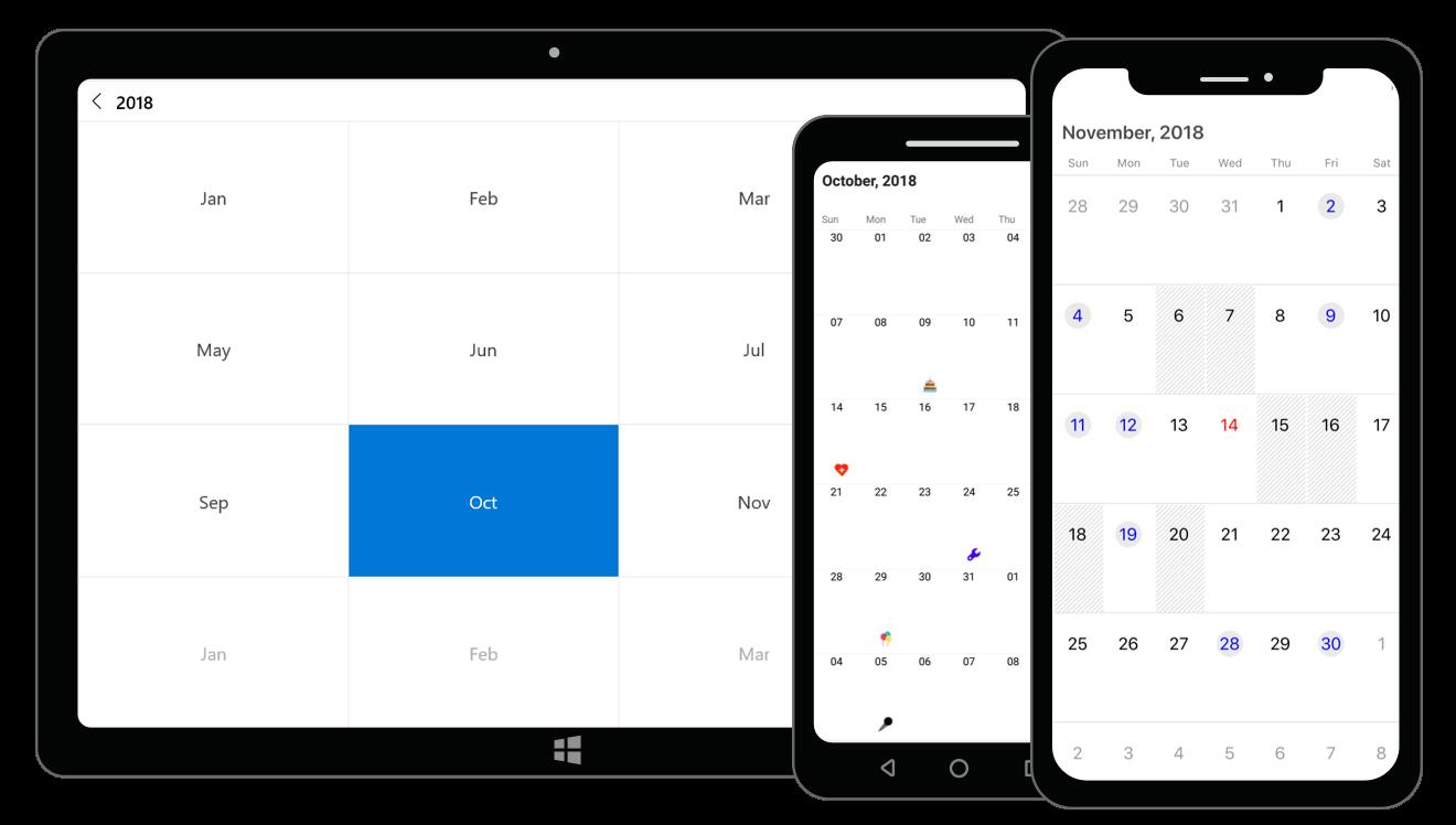 Xamarin.Forms Calendar Control