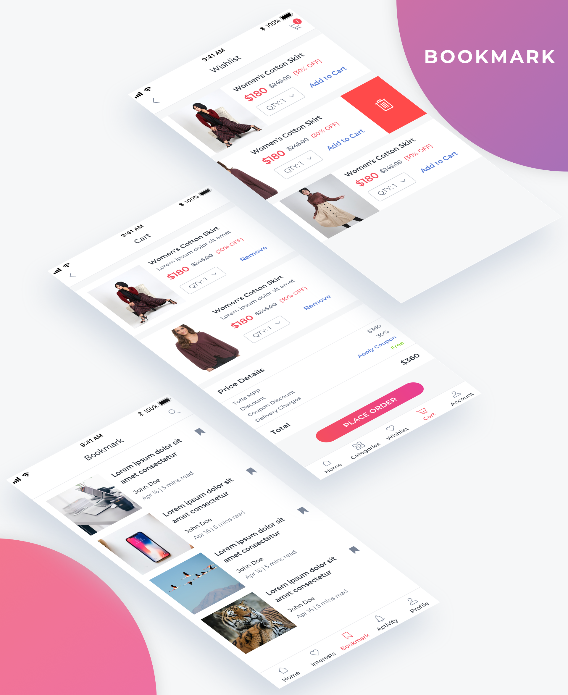 Essential UI Kit - Bookmark Page