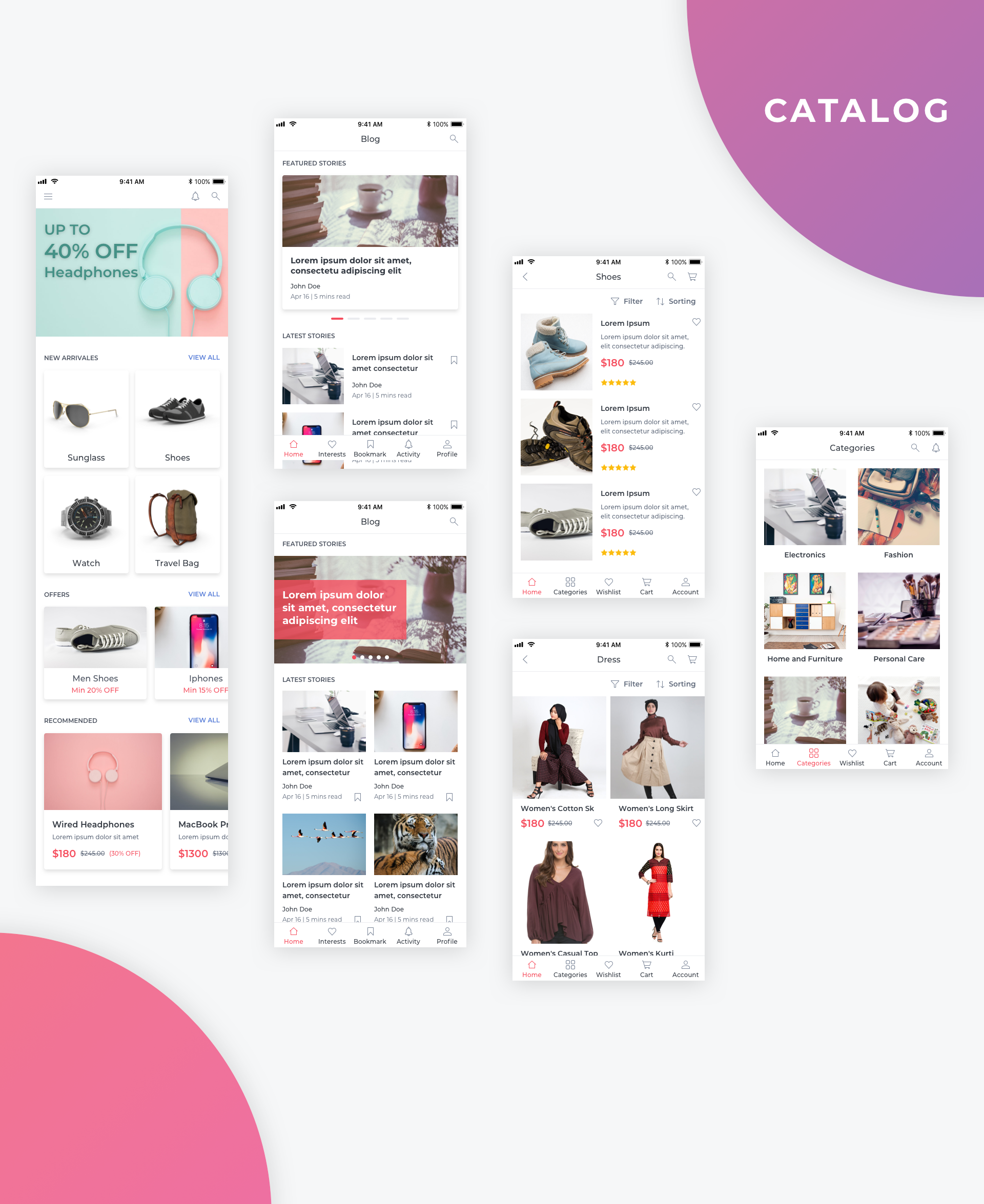Essential UI Kit - Catalog Page