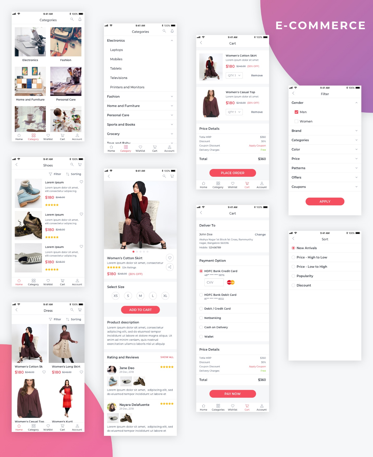 Essential UI Kit - E-Commerce Page