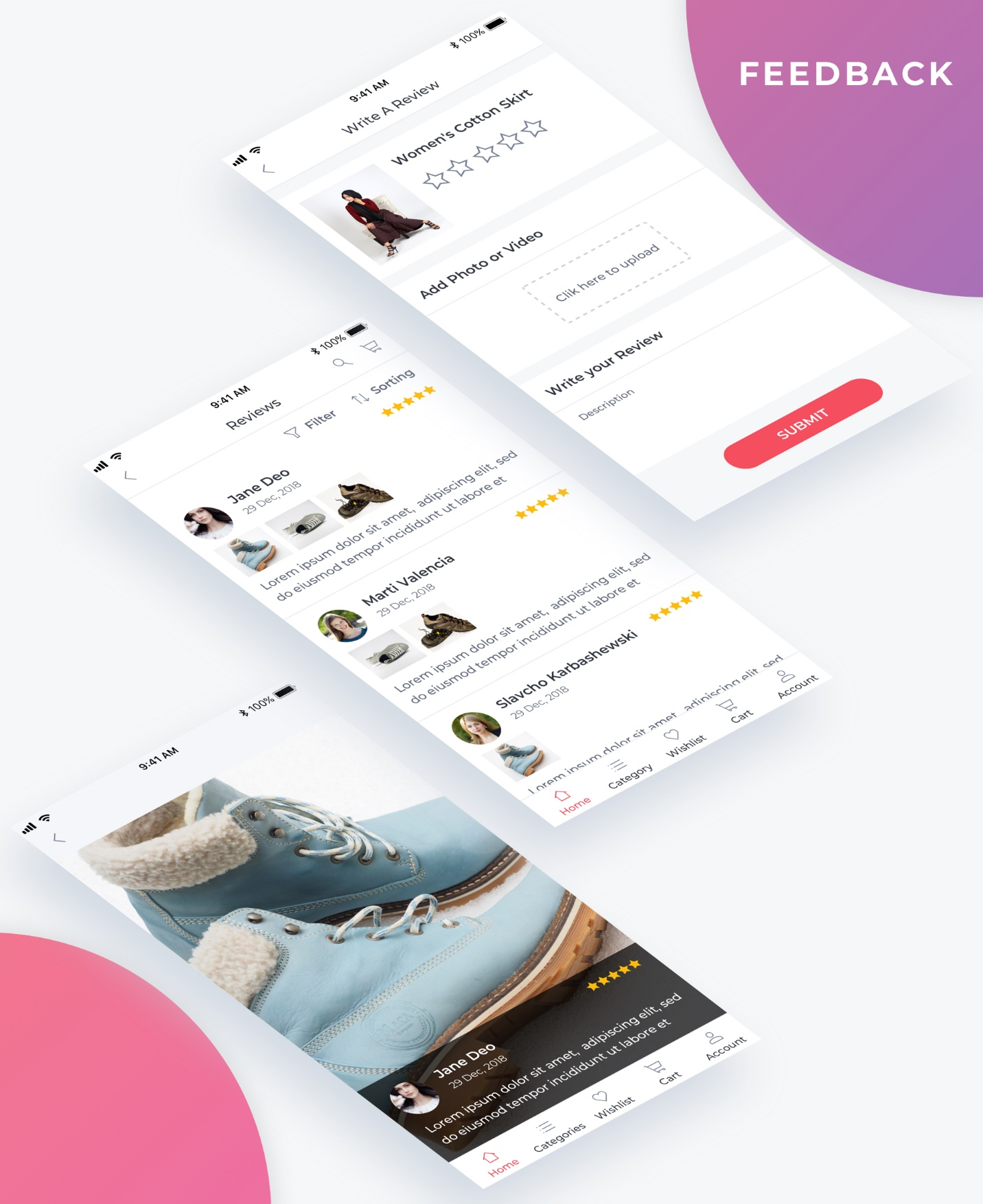 Essential UI Kit - Feedback Page