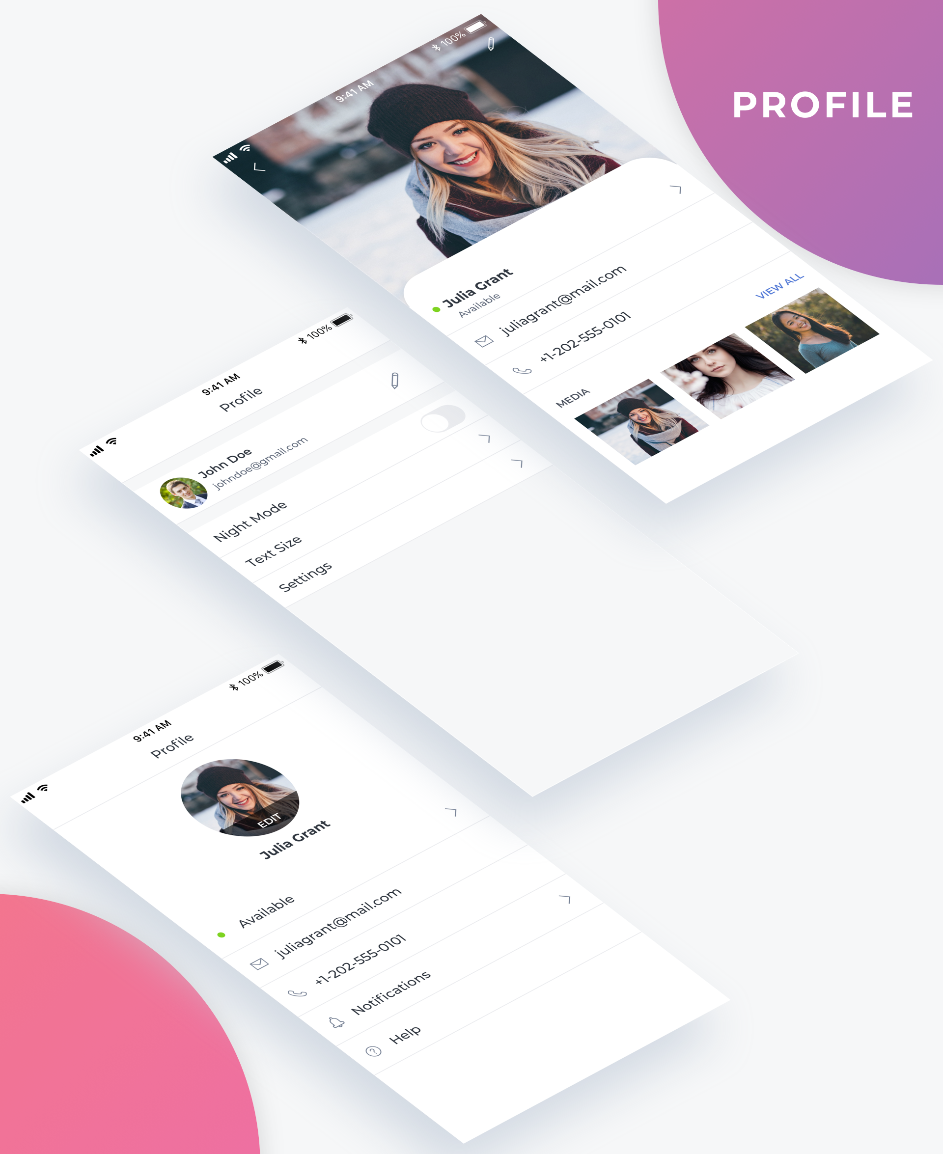 Essential UI Kit - Profile Page