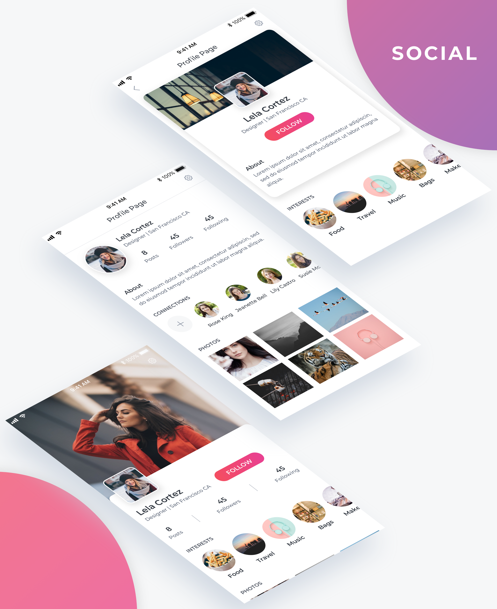 Essential UI Kit - Social Page