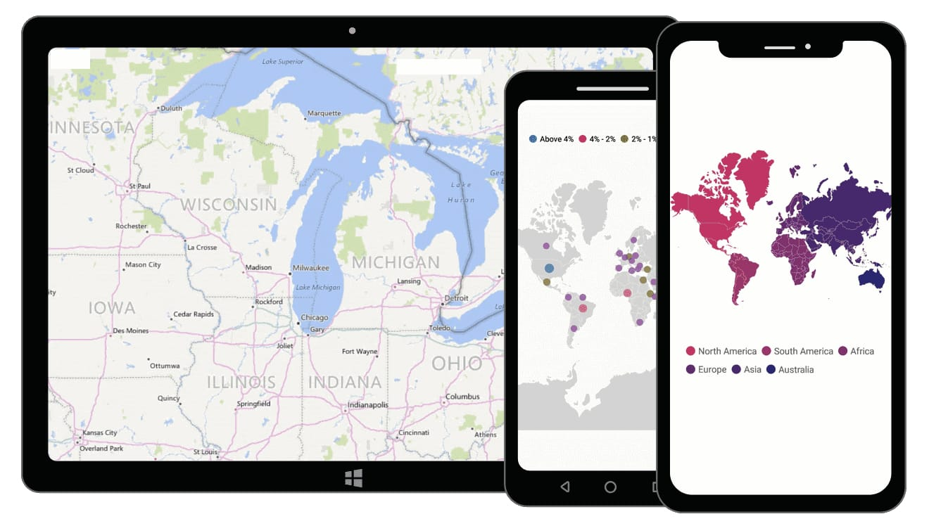Syncfusion Xamarin.Forms Maps control overview